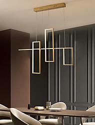 cheap -80 cm LED Pendant Light Black Gold Geometric Shapes Single Design Chandelier Aluminum Artistic Style Stylish Geometrical Painted Finishes Artistic LED 110-120V 220-240V