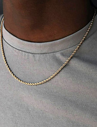cheap -Women's Men's Chains Necklace Fashion Alloy Gold 40-50 cm Necklace Jewelry 1pc For Party Evening