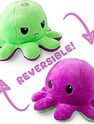 cheap -Reversible Octopus Plushie Stuffed Animal Mood Plush Double-Sided Flip Show Your Mood Without Saying a Word