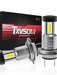 cheap -TXVSO8 Car LED Headlamps H9 / H7 / H11 Light Bulbs 26000 lm COB 110 W 3 For universal All Models All years 2pcs