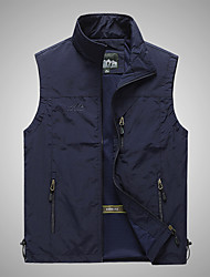cheap -Men's Hiking Vest / Gilet Fishing Vest Military Tactical Vest Sleeveless Vest / Gilet Jacket Top Outdoor Quick Dry Lightweight Breathable Soft Autumn / Fall Spring Summer Back Venting Design Chinlon