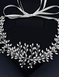cheap -Wedding Sweet Rhinestone / Alloy Headbands with Crystal / Rhinestone / Split Joint 1 Piece Wedding / Party / Evening Headpiece