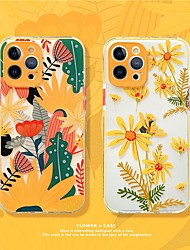 cheap -Flowers Case For Apple iPhone 12 11 SE2020 Shockproof Protective Case TPU Cover for iPhone 12 Pro Max XR XS Max iPhone 8 7