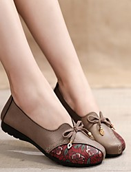 cheap -Women's Sneakers Flat Heel Round Toe Canvas Floral Black Red Khaki
