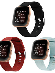 cheap -3-pack bands compatible with fitbit versa/versa 2/versa lite edition, large small soft woven fabric breathable accessories strap replacement wristband women men compatible versa smart watch