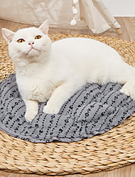 cheap -Dog Cat Pets Cat Beds Dog Bed Mat Pet Sleeping Nest Solid Colored Pumpkin Shaped Portable Foldable Washable Dual-use Mat Nylon for Large Medium Small Dogs and Cats