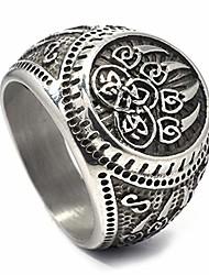 cheap -Celtic Bear Paw Viking Berserker Spirit Mens Stainless Steel Ring Men Women Norse Protection Jewelry