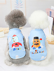 cheap -Dog Cat Shirt / T-Shirt Vest Airplane Basic Adorable Cute Dailywear Casual / Daily Dog Clothes Puppy Clothes Dog Outfits Breathable Yellow Red Costume for Girl and Boy Dog Polyster S M L XL XXL