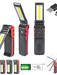 cheap -Usb Rechargeable Work Light Folding Work Light Cob Emergency Inspection Light Rotating Car Maintenance Light Flashlight