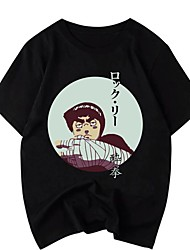 cheap -Inspired by Naruto Cosplay Cosplay Costume T-shirt Polyester / Cotton Blend Graphic Prints Printing Harajuku Graphic T-shirt For Women's / Men's