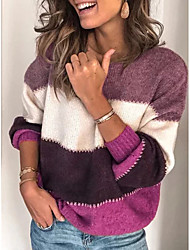 cheap -necooer womens knit sweater casual loose oversized long sleeve chunky knit pullover tops (xx-large, blue)