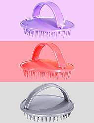 cheap -Charming Hand-held Head Cleaning Brush Round PP Plastic Shampoo Brush Adult Barber Shop Home Shampoo Tool