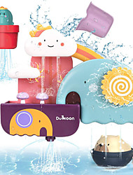 cheap -Waterfall Fill Spin and Flow Bath Toy Bathtub Pool Toys Water Pool Bathtub Toy Elephant Clouds Plastic Early Education Bathtime Bathroom 10 pcs for Toddlers, Bathtime Gift for Kids & Infants / Kid's