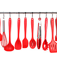 cheap -10 Pcs Heat Resistant Silicone Cookware Set Non-stick Cooking Tools Kitchen Baking Tool Kit Kitchen Utensils Accessories