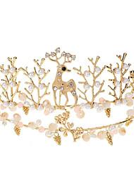 cheap -Wedding Princess Alloy Crown Tiaras with Metal 1 PC Wedding / Birthday Headpiece