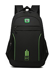 cheap -Men's Oxford Cloth Commuter Backpack Large Capacity Zipper Solid Color Daily Traveling Backpack Black Blue Orange Green