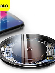 cheap -Baseus 10W Transparent Wireless Charger Safe Fast Wireless Visible Charging Pad For Qi-enabled Smart Phones For iPhone 12 11 SE 2020 For Samsung Galaxy S21 S20 Huawei P40 Pro Mi 11 Air pods Pro