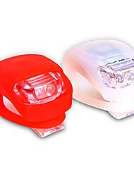 cheap -bicycle led lights front & rear safety set. white headlight and red taillight. high beam-flashing-blinking. water resistant, batteries included!