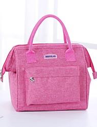 cheap -Unisex Polyester Lunch Bag Zipper Solid Color Daily Handbags Black Light Grey Dark Blue Rose Pink