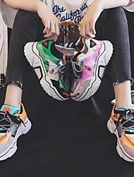 cheap -Women's Flats Flat Heel Round Toe Suede Color Block White Orange Green