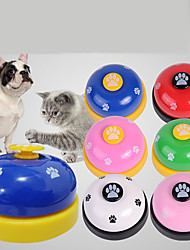 cheap -Dog Chew Toys Dog Toy Pet Training Bells Dog Cat Round Paw Pet Exercise Releasing Pressure Plastic Metal Gift Pet Toy Pet Play