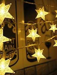 cheap -50 LED Star String Lights Snowflake Fairy lights Christmas Lights Battery Operated Fairy Lights for Indoor Outdoor Home Garden Party Wedding Yard Christmas Tree Decor