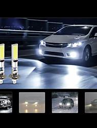 cheap -2pcs Car LED Fog Lights H3 H1 Light Bulbs 1400 lm COB 35 W 6000 k 2 For universal All Models All years