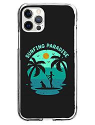 cheap -Coastal Phone Case For Apple iPhone 13 12 Pro Max 11 X XR XS Max iphone 7/8 iphone 7Plus / 8Plus Unique Design Protective Case Pattern Back Cover TPU