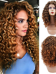 cheap -curly wig high temperature synthetic fiber cosplay party wig suitable for African American women wig free cap