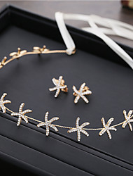 cheap -Wedding Bridal Alloy Headbands / Headdress / Headpiece with Starfish and Seashell / Sparkling Glitter / Metal 2pcs / 1 set Wedding / Party / Evening Headpiece
