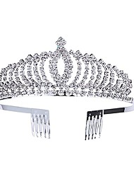 cheap -Wedding Blinging Alloy Crown Tiaras with Metal 1 PC Wedding / Birthday Headpiece