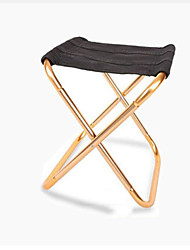 cheap -Camping Stool Portable Ultra Light (UL) Multifunctional Foldable Aluminum Alloy for 1 person Fishing Beach Camping Traveling Autumn / Fall Winter Gold Silver / Breathable / Comfortable