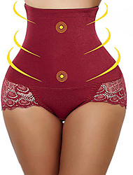 cheap -Corset Women's Control Panties Seamless Sexy Breathable Comfortable Classic Tummy Control Fashion Lace Solid Color Seamed Nylon Spandex Christmas Halloween Wedding Party Birthday Party Spring