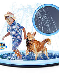 "cheap -Non-Slip Splash Pad Sprinkler for Kids Toddlers, Kiddie Baby Pool, Outdoor Games Water Mat Toys - Infant Wading Swimming Pool - Fun Backyard Fountain Play Mat for 1 -12 Age Girls Boys or Pet Dog(67"")"