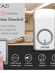 cheap -Intelligent Wireless Doorbell Waterproof 350M Remote LED Light US EU UK AU Plug Smart Home Calling Doorbell Chime 220V