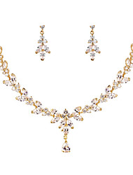 cheap -Women's Cubic Zirconia Bridal Jewelry Sets Elegant Classic Earrings Jewelry White / Champagne For Wedding Anniversary Party Evening 1 set
