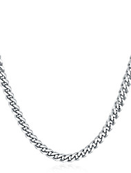 cheap -cuban link necklace miabella solid 5mm diamond cut cuban link curb chain necklace for women men, 16, 18, 20, 22, 24, 26, 30 inch