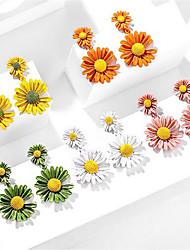 cheap -Women's Stud Earrings Petal Sweet Earrings Jewelry White / Yellow / Blushing Pink For Date Festival 1 Pair