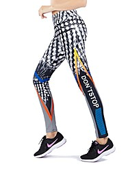 cheap -Activewear Pants Printing Solid Women's Training Running Natural Polyester