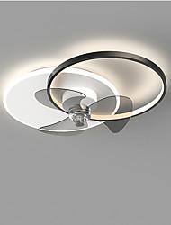 cheap -60 cm LED Ceiling Fan Light Circle Design Black Gold Metal Modern Style Painted Finishes LED Modern 220-240V