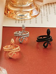 cheap -Band Ring Classic Silver Gold Black Copper Snake Punk European Trendy 1pc Adjustable / Adjustable Ring