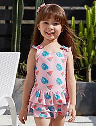 cheap -Kids Girls' Swimwear One Pieces Swimsuit Print Swimwear Print Sleeveless Photo Color Active Bathing Suits