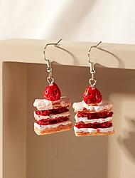 cheap -Women's Drop Earrings Earrings Dangle Earrings Strawberry Fashion Sweet Resin Earrings Jewelry Red For Date Vacation Birthday 1 Pair