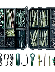 cheap -160 pcs Fishing Hooks Fishing Snaps & Swivels Fishing Beads Fishing Accessories Set Plastic Carbon Steel Easy to Carry Easy to Use Carp Fishing