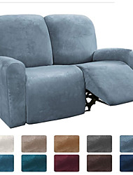 cheap -Sectional Recliner Sofa Slipcover 1 Set of 6 Pieces Microfiber Stretch High Elastic High Quality Velvet Sofa Cover Sofa Slipcover for 2 Seats Cushion Recliner Sofa