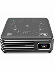 cheap -P11 DLP Projector WIFI Projector Keystone Correction FWVGA (854x480) 1500 lm Android 9.0 Compatible with