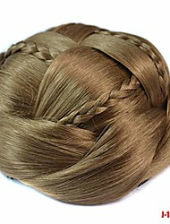 cheap -exquisite braided chignon multi-tiered braids synthetic hair bun pad the most stunning proms natural hairpiece p16/613