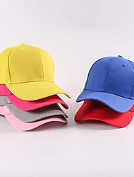 cheap -Cotton Baseball Cap Running Cap Visor Hats Men's Women's Hat Solid Colored Adjustable Lightweight Breathable for Fitness Running Jogging Autumn / Fall Spring Summer Cream White Black
