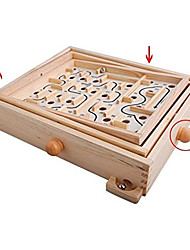 cheap -Wood Labyrinth Table Maze/Balance Board Table Maze, Board Game for Kids and Adults - Large - Great Gift