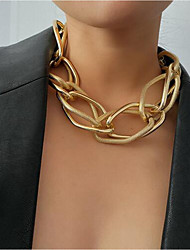 cheap -Women's Choker Necklace Lariat Hip Hop Alloy Silver Gold 43+10 cm Necklace Jewelry 1pc For Street